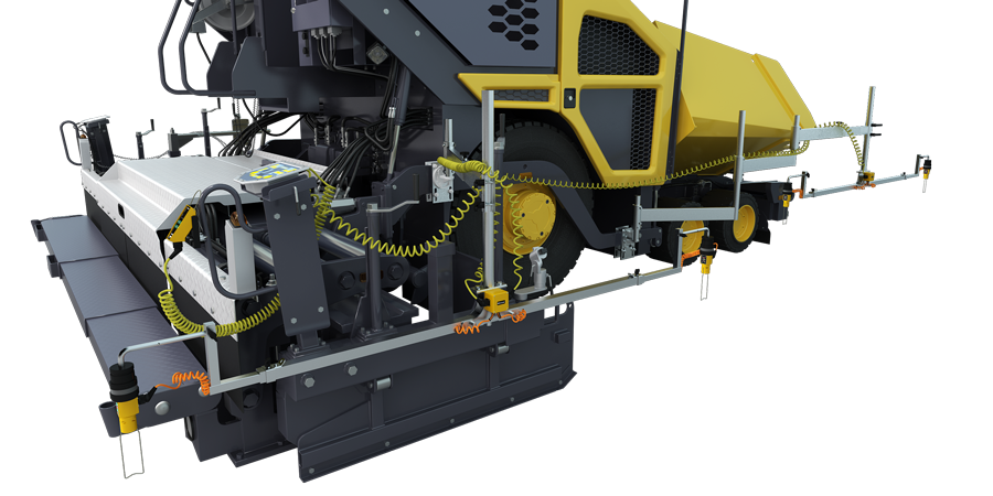 Averaging beam on paver for easy paving - TF-Technologies