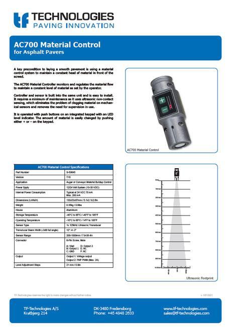 AC700 Material Controller T15