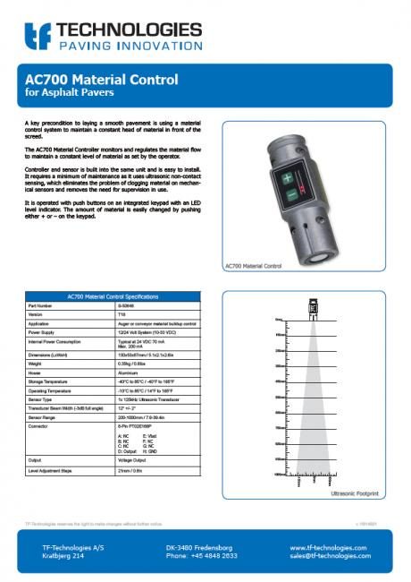 AC700 Material Controller T18