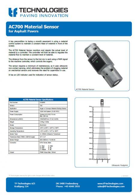 AC700 Material Sensor T20