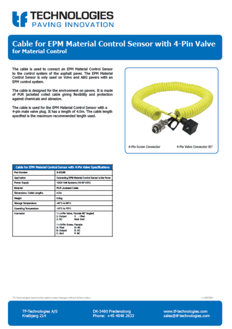 Cable for AC700 T13 - TF-Technologies