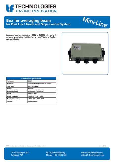 Mini-Line Connector Box for Averaging Beam TF-Technologies