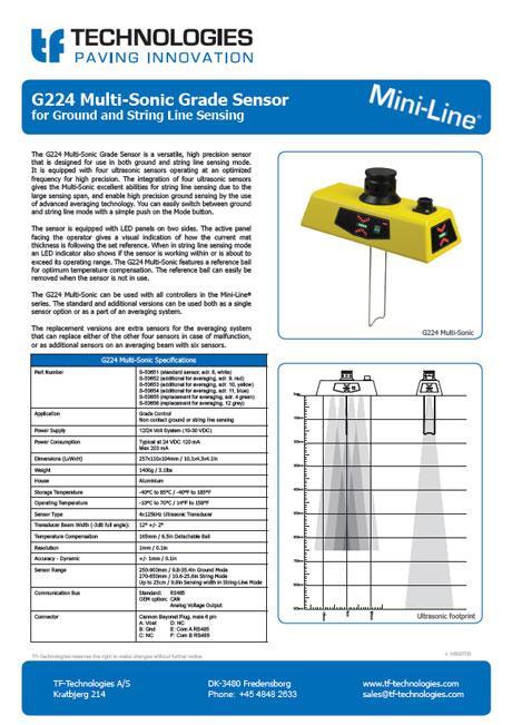 G224 Multi-Sonic Grade Sensor Mini-Line TF-Technologies