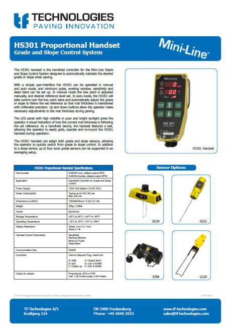 HS301 Proportional Handset