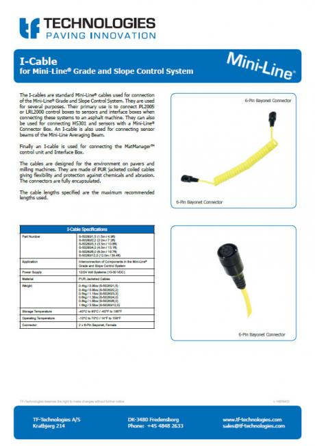 I-Cable - multisensor - G224 - Mini-Line PL2005