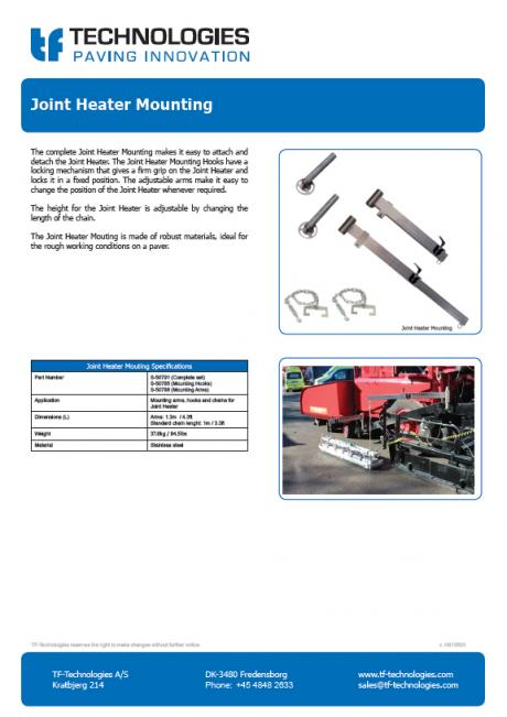 Joint Heater Mounting