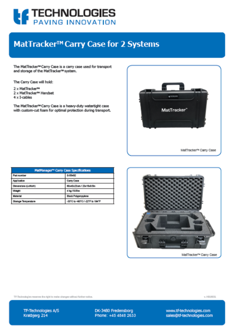 MatTracker Carry Case for 2 systems