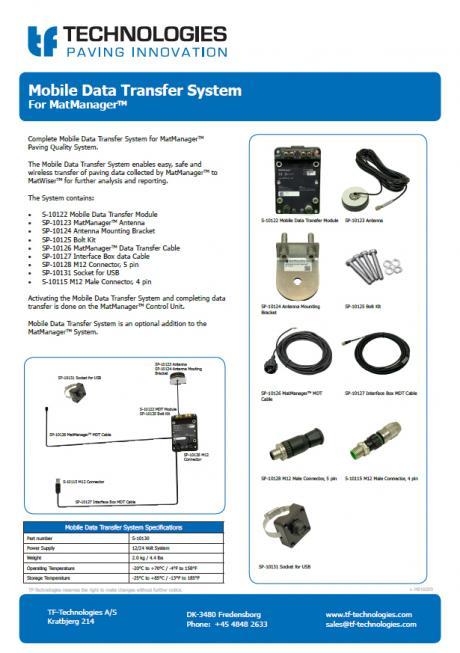 Mobile Data Transfer for MatManager™