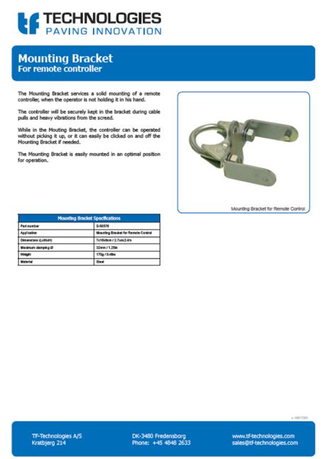 Remote Controller Mounting Bracket