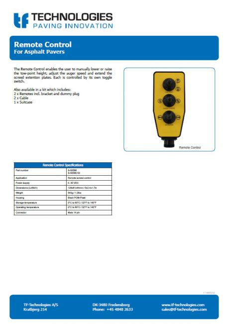 Remote Control Asphalt Pavers