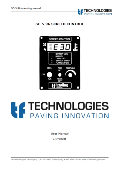 TF-Technologies - Manufacturer of high quality temperature controls