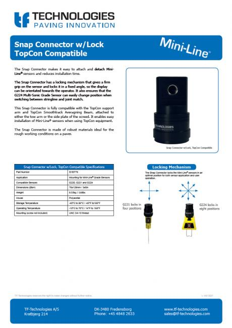 Snap Connector TopCon Compatible