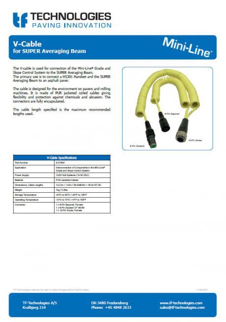 V-Cable for SUPER Averaging Beam