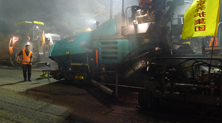 EASY Averaging beam on voegele paver - TF-Technologies